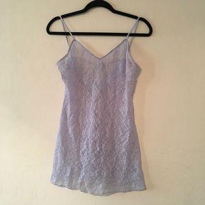 Josie blue lace slip / lingerie dress